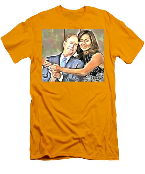Imagine All The People Men's T-Shirt (Slim Fit) by Wayne Pascall
