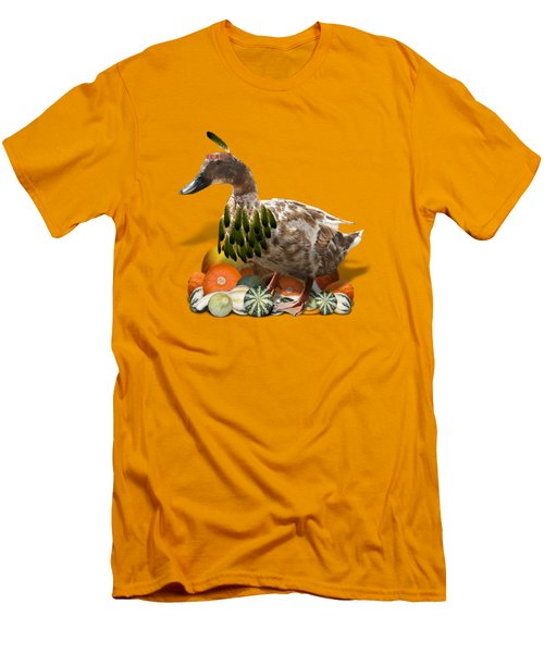 Indian Duck Men's T-Shirt (Slim Fit) by Gravityx9 Designs