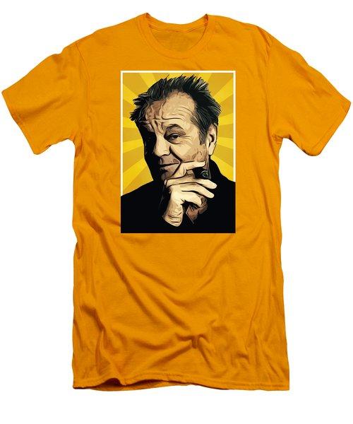 Jack Nicholson 3 Men's T-Shirt (Slim Fit) by Semih Yurdabak
