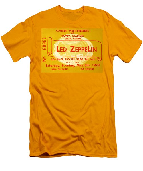 Led Zeppelin Ticket Men's T-Shirt (Slim Fit) by David Lee Thompson