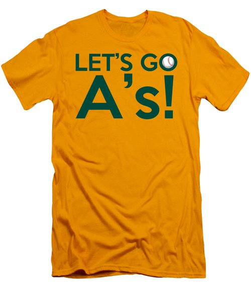 Let's Go A's Men's T-Shirt (Slim Fit) by Florian Rodarte