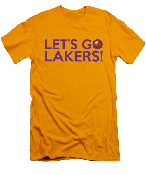 Let's Go Lakers Men's T-Shirt (Slim Fit) by Florian Rodarte