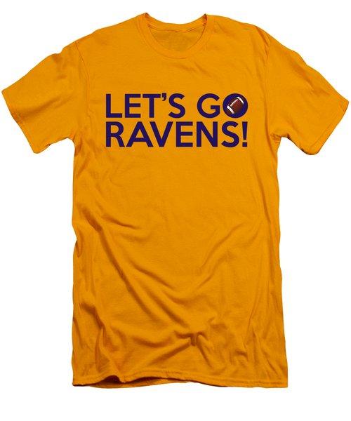 Let's Go Ravens Men's T-Shirt (Slim Fit) by Florian Rodarte