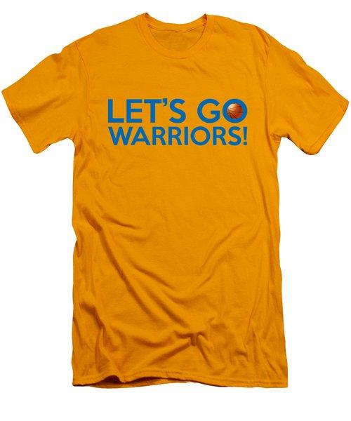 Let's Go Warriors Men's T-Shirt (Slim Fit) by Florian Rodarte