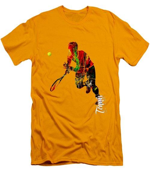Mens Tennis Collection Men's T-Shirt (Slim Fit) by Marvin Blaine