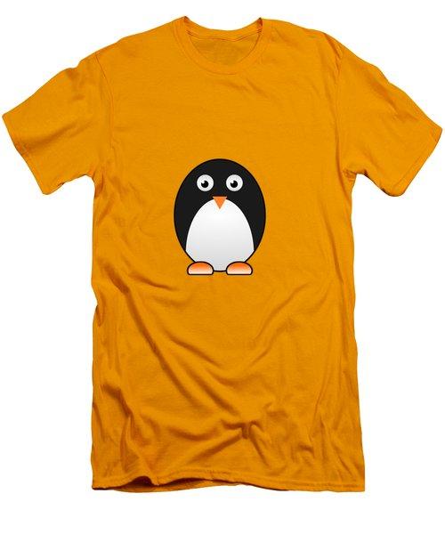 Penguin - Birds - Art For Kids Men's T-Shirt (Slim Fit) by Anastasiya Malakhova