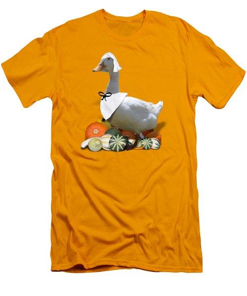 Pilgrim Duck Men's T-Shirt (Slim Fit) by Gravityx9 Designs