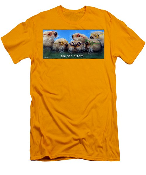 See Otters... Men's T-Shirt (Slim Fit) by Will Bullas
