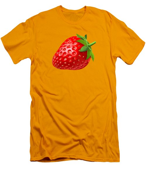 Strawberry Men's T-Shirt (Slim Fit) by T Shirts R Us -