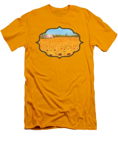 Sunflower Field Men's T-Shirt (Slim Fit) by Anastasiya Malakhova