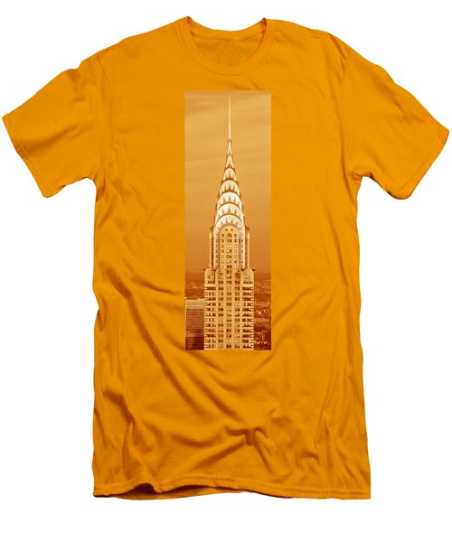 This Is A Sepiatone Close Men's T-Shirt (Slim Fit) by Panoramic Images