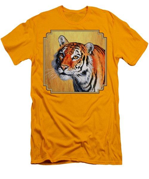 Tiger Portrait Men's T-Shirt (Slim Fit) by Crista Forest