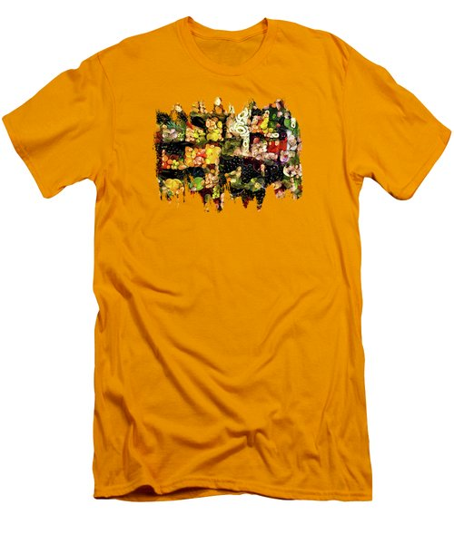 Veggies And Fruit Galore Men's T-Shirt (Slim Fit) by Thom Zehrfeld