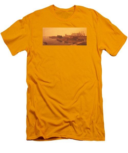 Westminster Abbey  Men's T-Shirt (Slim Fit) by Peter de Wint
