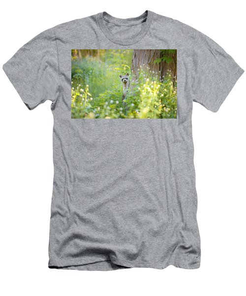 Peek A Boo Men's T-Shirt (Slim Fit) by Carrie Ann Grippo-Pike
