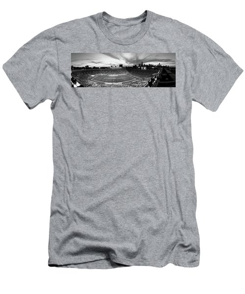 Soldier Field Football, Chicago Men's T-Shirt (Slim Fit) by Panoramic Images