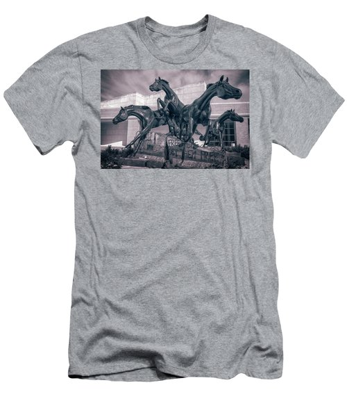 A Monument To Freedom II Men's T-Shirt (Slim Fit) by Joan Carroll