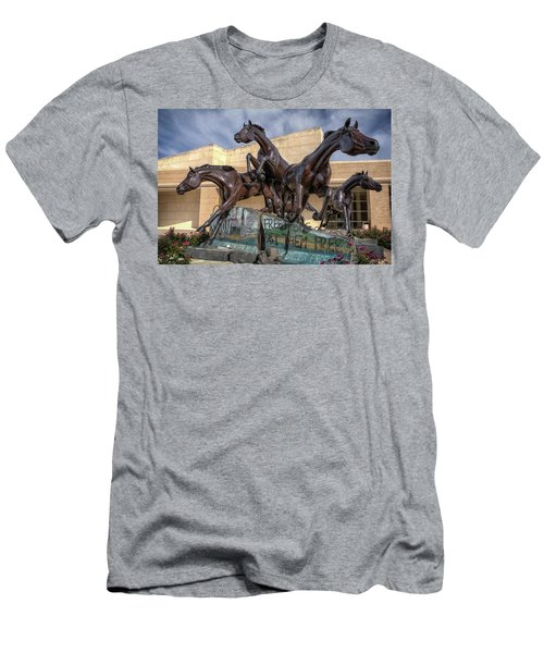 A Monument To Freedom Men's T-Shirt (Slim Fit) by Joan Carroll