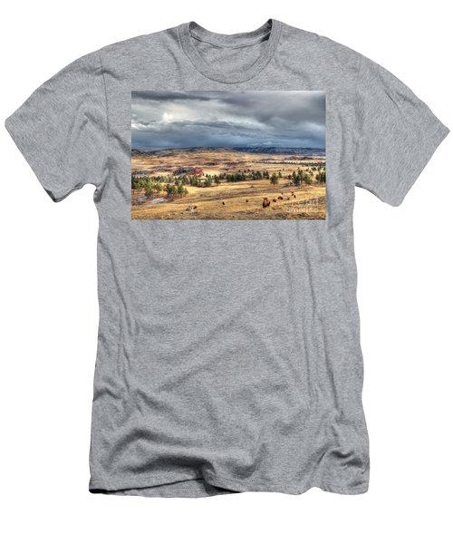Men's T-Shirt (Slim Fit) featuring the photograph Buffalo Before The Storm by Bill Gabbert