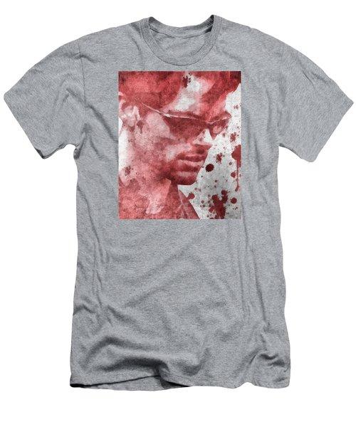 Cyclops X Men Paint Splatter Men's T-Shirt (Slim Fit) by Dan Sproul