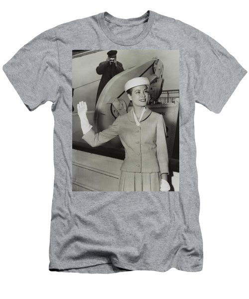 Grace Kelly In 1956 Men's T-Shirt (Slim Fit) by Mountain Dreams