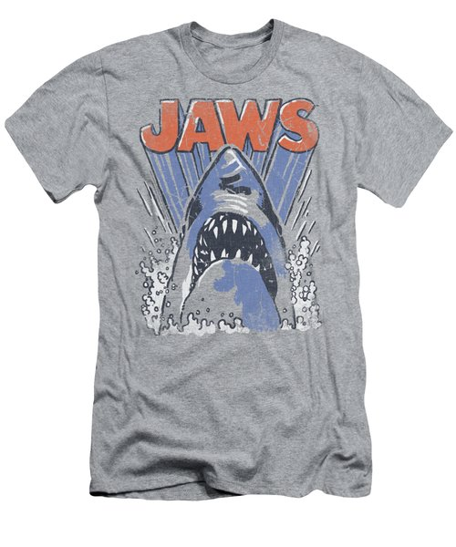 Jaws - Comic Splash Men's T-Shirt (Slim Fit) by Brand A