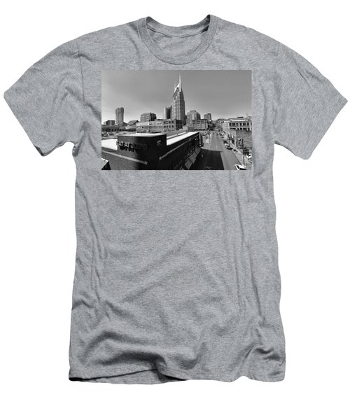 Looking Down On Nashville Men's T-Shirt (Slim Fit) by Dan Sproul