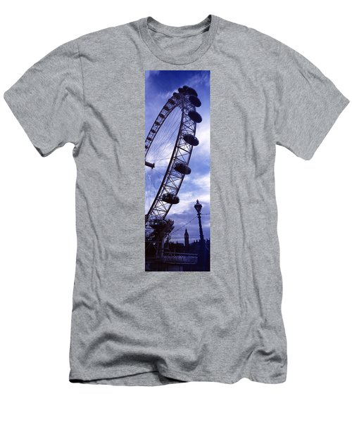 Low Angle View Of The London Eye, Big Men's T-Shirt (Slim Fit) by Panoramic Images