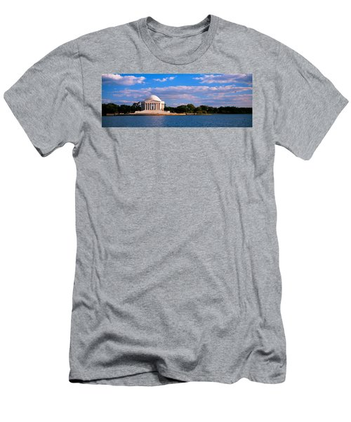 Monument On The Waterfront, Jefferson Men's T-Shirt (Slim Fit) by Panoramic Images