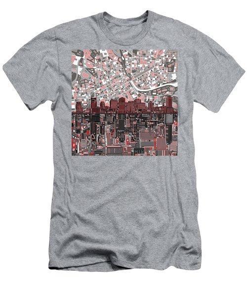 Nashville Skyline Abstract 3 Men's T-Shirt (Slim Fit) by Bekim Art