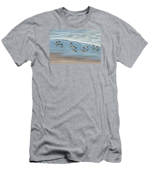 Sandpipers Men's T-Shirt (Slim Fit) by Tina Obrien