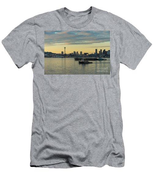 Seattles Working Harbor Men's T-Shirt (Slim Fit) by Mike Reid