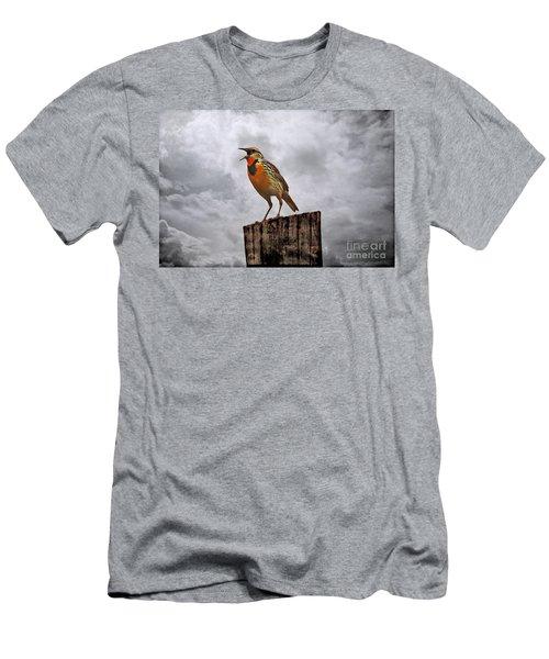 The Meadowlark's Song Men's T-Shirt (Slim Fit) by Elizabeth Winter