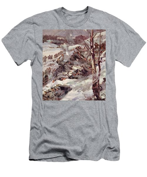 The Russians Fighting Their Way Over The Carpathians Men's T-Shirt (Slim Fit) by Cyrus Cuneo