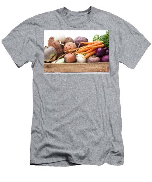 Veg Box Men's T-Shirt (Slim Fit) by Anne Gilbert