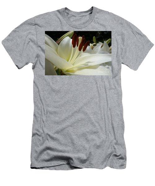 White Asiatic Lily Men's T-Shirt (Slim Fit) by Jacqueline Athmann