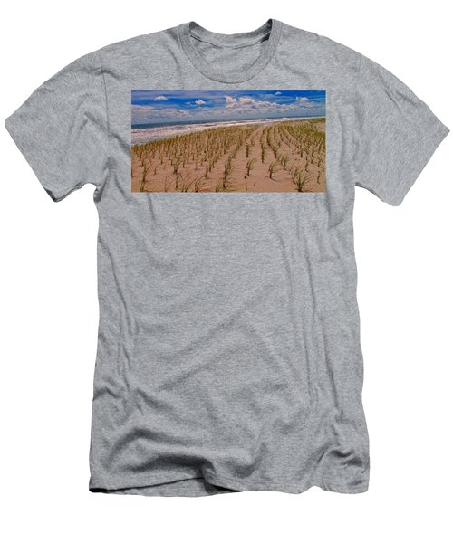 Wildwood Beach Breezes  Men's T-Shirt (Slim Fit) by David Dehner