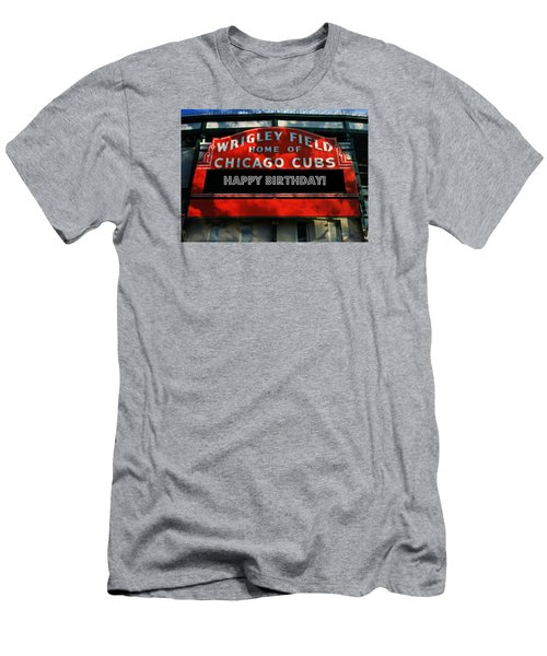 Wrigley Field -- Happy Birthday Men's T-Shirt (Slim Fit) by Stephen Stookey