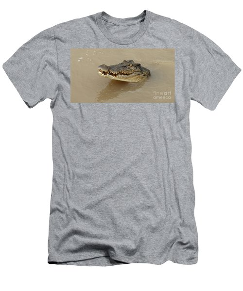 Salt Water Crocodile 3 Men's T-Shirt (Slim Fit) by Bob Christopher