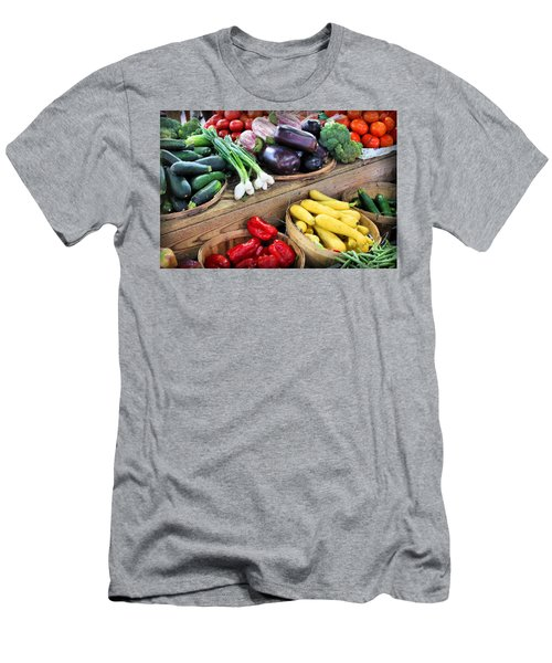 Farmers Market Summer Bounty Men's T-Shirt (Slim Fit) by Kristin Elmquist