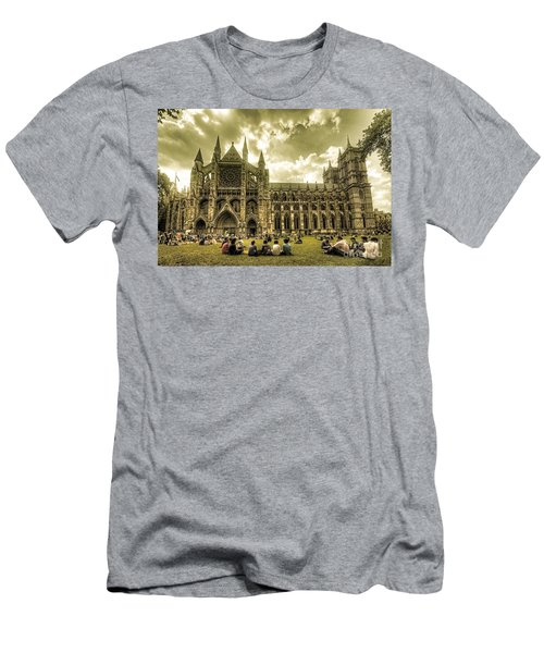 Westminster Abbey Men's T-Shirt (Slim Fit) by Rob Hawkins