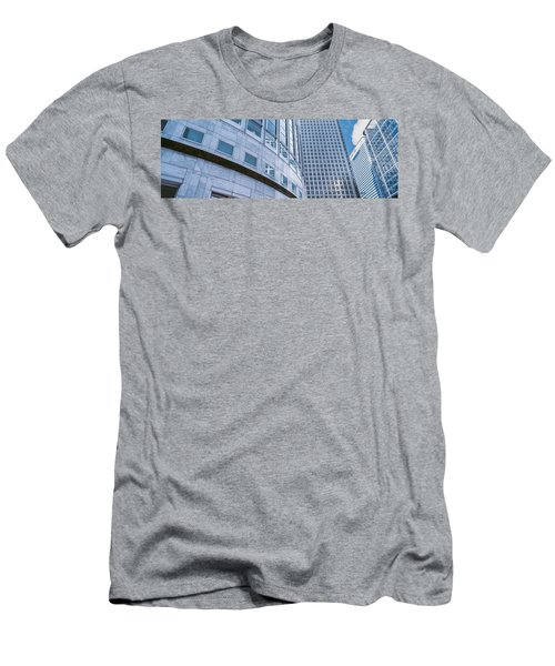 Skyscrapers In A City, Canary Wharf Men's T-Shirt (Slim Fit) by Panoramic Images