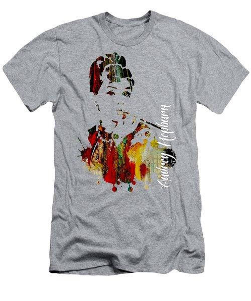 Audrey Hepburn Collection Men's T-Shirt (Slim Fit) by Marvin Blaine