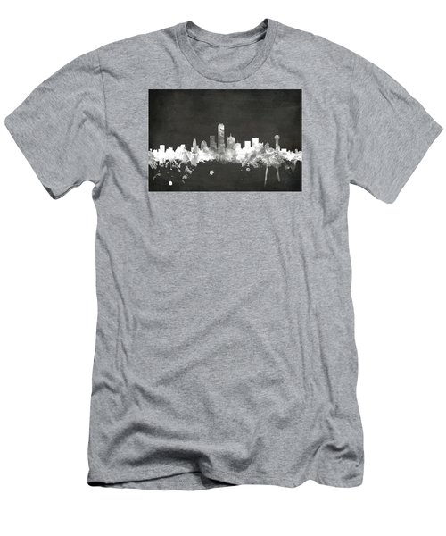 Dallas Texas Skyline Men's T-Shirt (Slim Fit) by Michael Tompsett