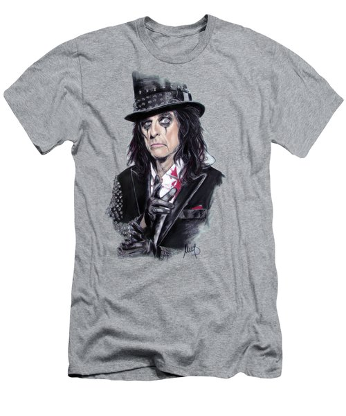 Alice Cooper Men's T-Shirt (Slim Fit) by Melanie D