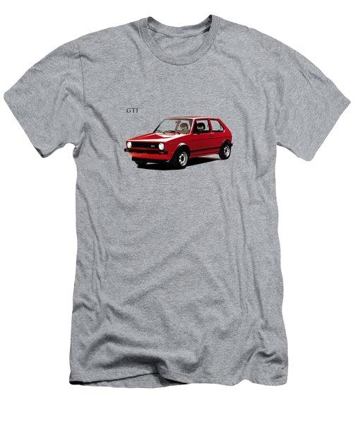 Vw Golf Gti 1976 Men's T-Shirt (Slim Fit) by Mark Rogan