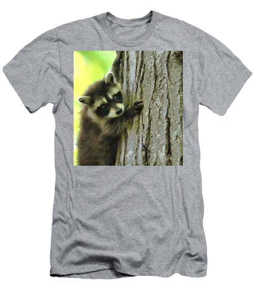 Baby Raccoon In A Tree Men's T-Shirt (Slim Fit) by Dan Sproul