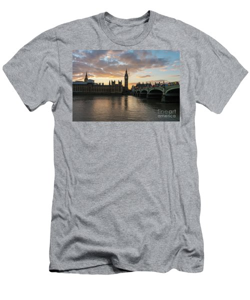 Big Ben London Sunset Men's T-Shirt (Slim Fit) by Mike Reid