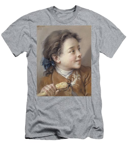 Boy With A Carrot, 1738 Men's T-Shirt (Slim Fit) by Francois Boucher