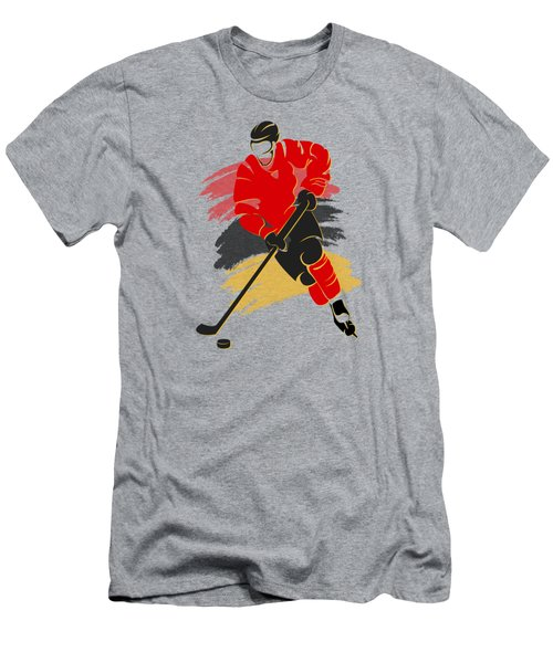 Calgary Flames Player Shirt Men's T-Shirt (Slim Fit) by Joe Hamilton